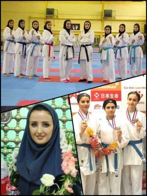 photo ۲۰۱۸ ۰۵ ۱۲ ۲۱ ۱۵ ۰۲ 300x400 - پایان خوش دختران شایسته کاراته در جام هفدهم آسیا / تیم ملی کاراته ایران قهرمان آسیا شد