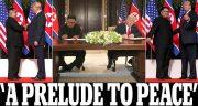 ترامپ و اون سند مشترک امضا کردند/ ترامپ: خلع سلاح هستهای خیلی سریع آغاز میشود