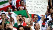 بنر فوق العاده هوادار ایرانی در ورزشگاه کازان + عکس