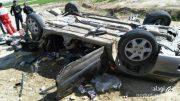 عجیب ترین تصادف سال / واژگونی خودروی ۴۰۵ با ۱۰ سرنشین !
