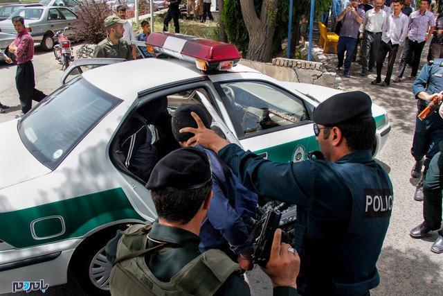دستگیری متهم فراری با تعقیب و گریز و تیراندازی پلیس در لاهیجان