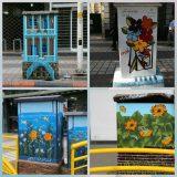 رنگ آمیزی جالب پستهای برق در لاهیجان + تصاویر