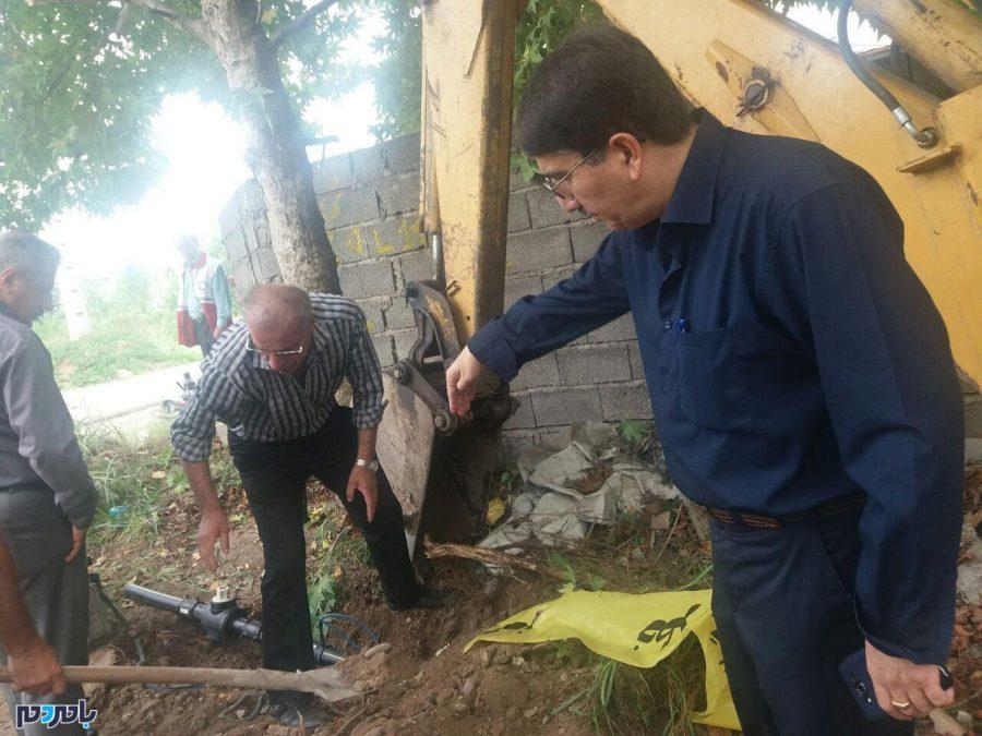 مانور انسداد شبکههای گازرسانی و قطع جریان گاز در لاهیجان برگزار شد + تصاویر