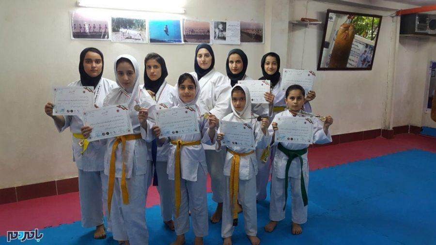 کسب قهرمانی توسط بانوان کاراتهکار لاهیجانی