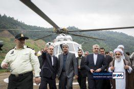 گزارش تصویری بازدید وزیر نیرو و استاندار گیلان از سد پلرود رودسر
