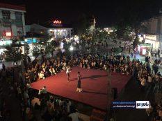 گزارش تصویری اجرای تئاتر خیابانی اسپایدرمن در پیاده راه فرهنگی رشت