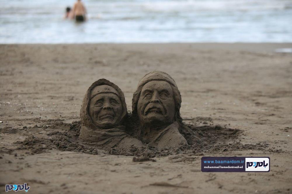 مجسمههای شنی در ساحل سارینا واجارگاه رودسر 12 - جشنواره مجسمههای شنی در ساحل سارینا واجارگاه رودسر برگزار شد / گزارش تصویری