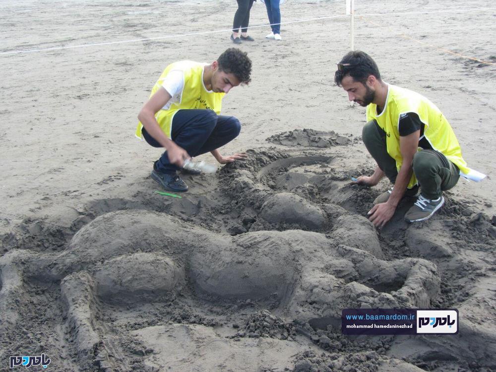مجسمههای شنی در ساحل سارینا واجارگاه رودسر 18 - جشنواره مجسمههای شنی در ساحل سارینا واجارگاه رودسر برگزار شد / گزارش تصویری