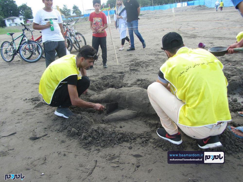 مجسمههای شنی در ساحل سارینا واجارگاه رودسر 19 - جشنواره مجسمههای شنی در ساحل سارینا واجارگاه رودسر برگزار شد / گزارش تصویری