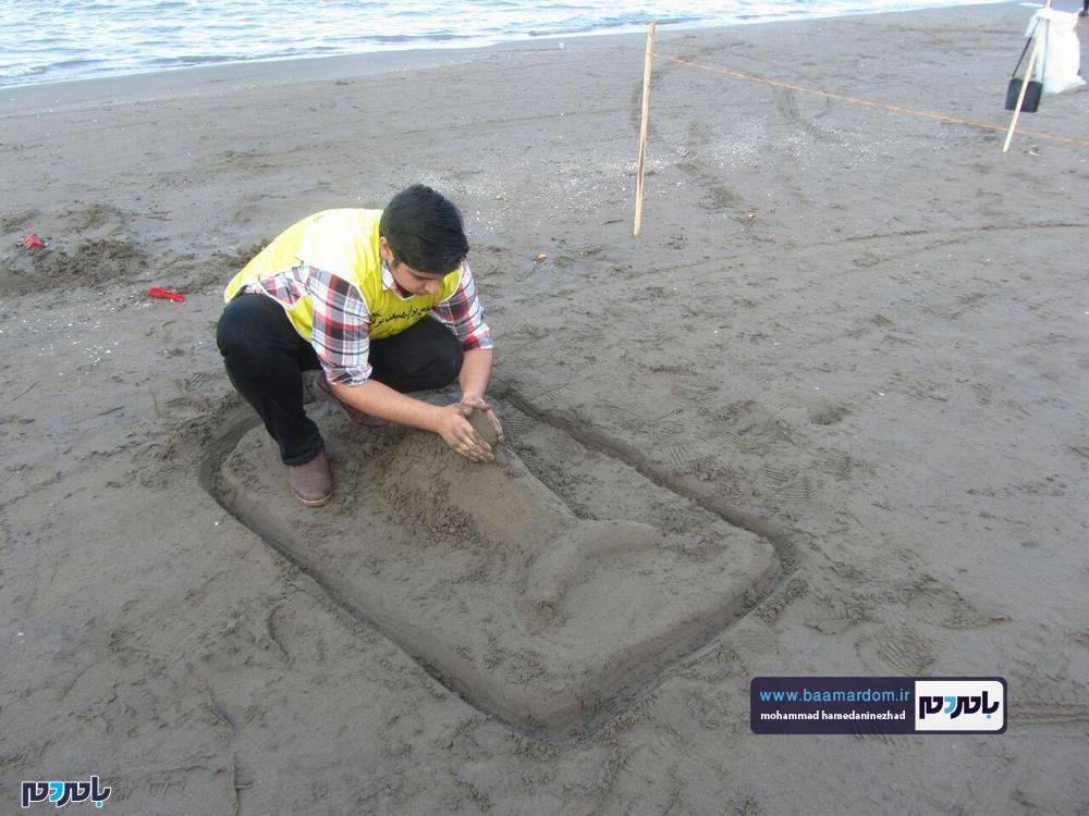 مجسمههای شنی در ساحل سارینا واجارگاه رودسر 21 - جشنواره مجسمههای شنی در ساحل سارینا واجارگاه رودسر برگزار شد / گزارش تصویری