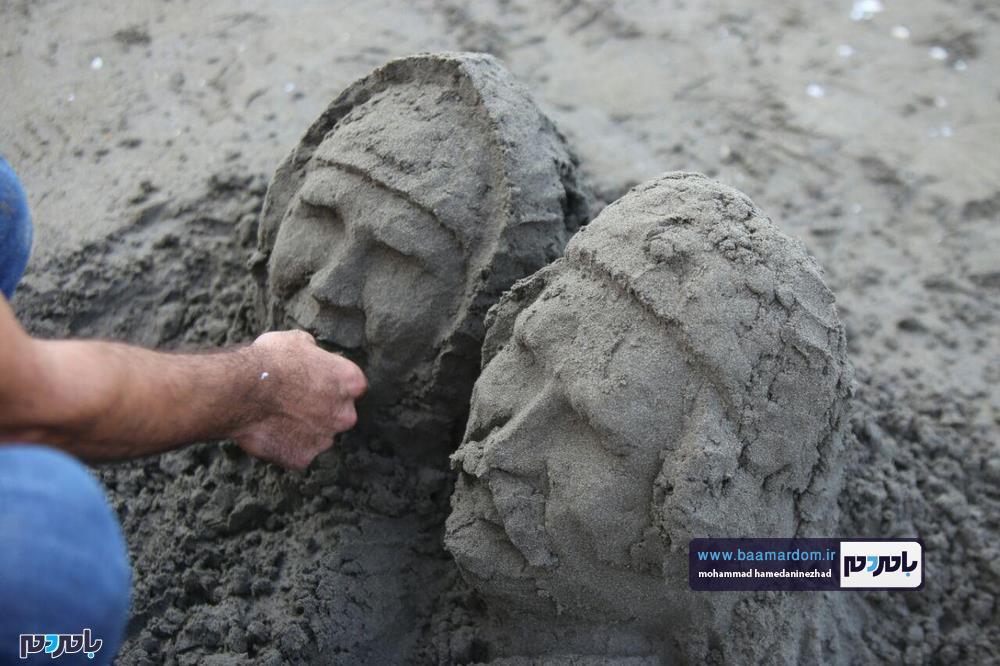 مجسمههای شنی در ساحل سارینا واجارگاه رودسر 23 - جشنواره مجسمههای شنی در ساحل سارینا واجارگاه رودسر برگزار شد / گزارش تصویری