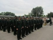 صبحگاه مشترک نیروهای نظامی و انتظامی شهرستانهای شرق گیلان در لنگرود برگزار شد / تصاویر