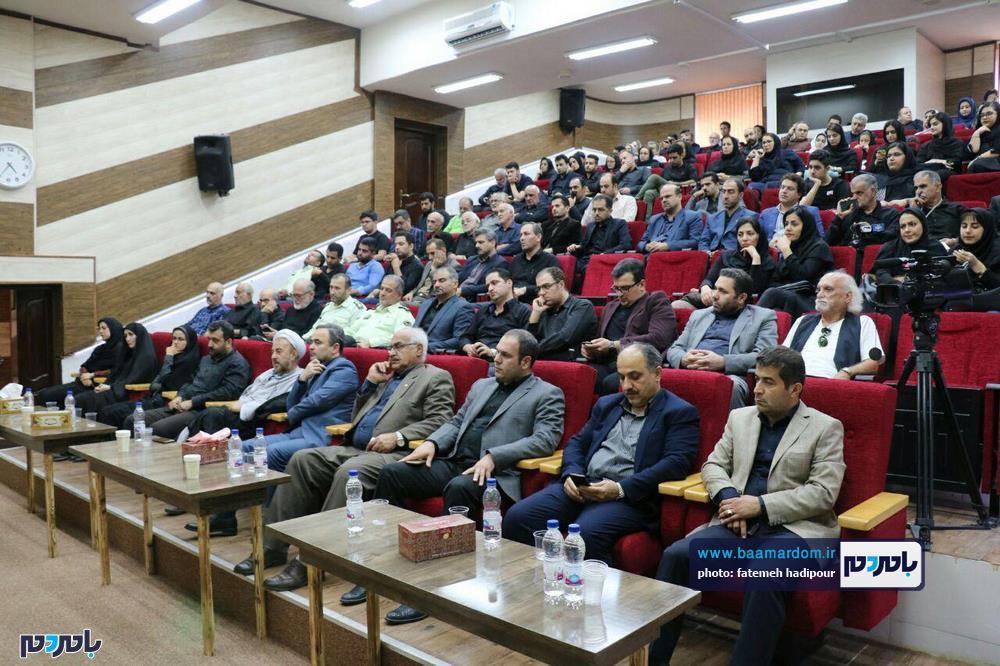سوگواره شعر عاشورایی در لاهیجان 16 - برگزاری نخستین سوگواره شعر عاشورایی به همراه تجلیل از پیر غلامان حسینی در لاهیجان / گزارش تصویری