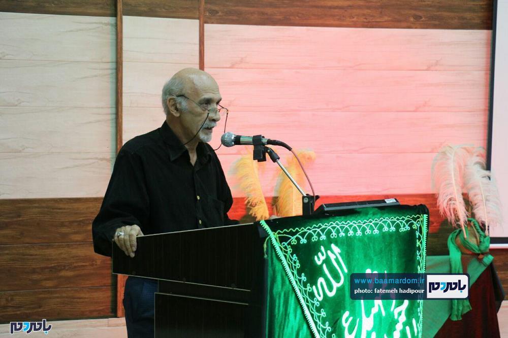 سوگواره شعر عاشورایی در لاهیجان 5 - برگزاری نخستین سوگواره شعر عاشورایی به همراه تجلیل از پیر غلامان حسینی در لاهیجان / گزارش تصویری