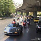 اسکورت خودروی چند میلیاردی توسط موتورسنگین ها در تهران ! + عکس