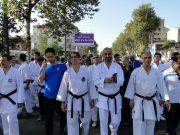 اجتماع بزرگ خانواده کاراته در گیلان به مناسبت هفته تربیت بدنی و ورزش + تصاویر
