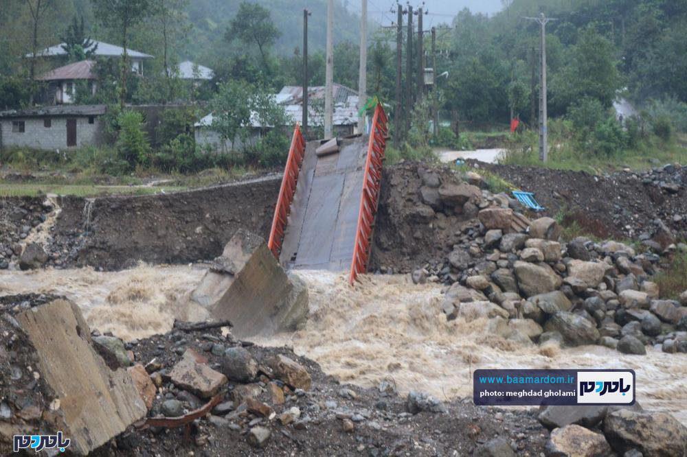 خسارت شدید سیل به برخی روستاهای بخش رحیم آباد رودسر + تصاویر
