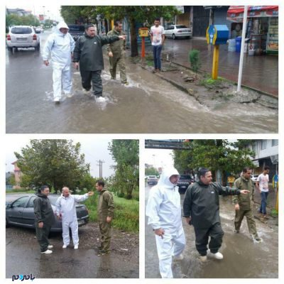 لنگرود زیر باران چکمه پوشید اما سوژه رسانهها شد 2 400x400 - شهردار لنگرود زیر باران چکمه پوشید اما سوژه رسانهها شد! / تصاویر