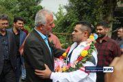 مراسم استقبال و تجلیل از جهان پهلوان علی اکبری در رحیم آباد رودسر  + تصاویر