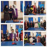 مسابقه تنیس روی میز بانوان در لاهیجان برگزار شد