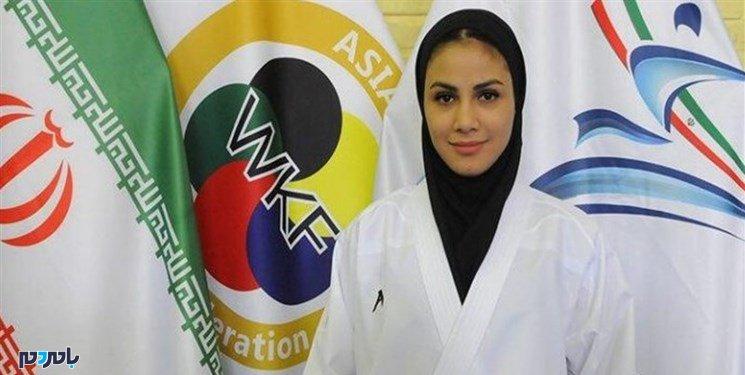 مدال برنز کاراته جهانی بر گردن کاراته کای گیلانی