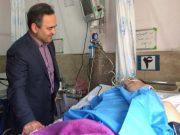 عیادت سرپرست فرمانداری لاهیجان از آتشنشان فداکار + تصاویر