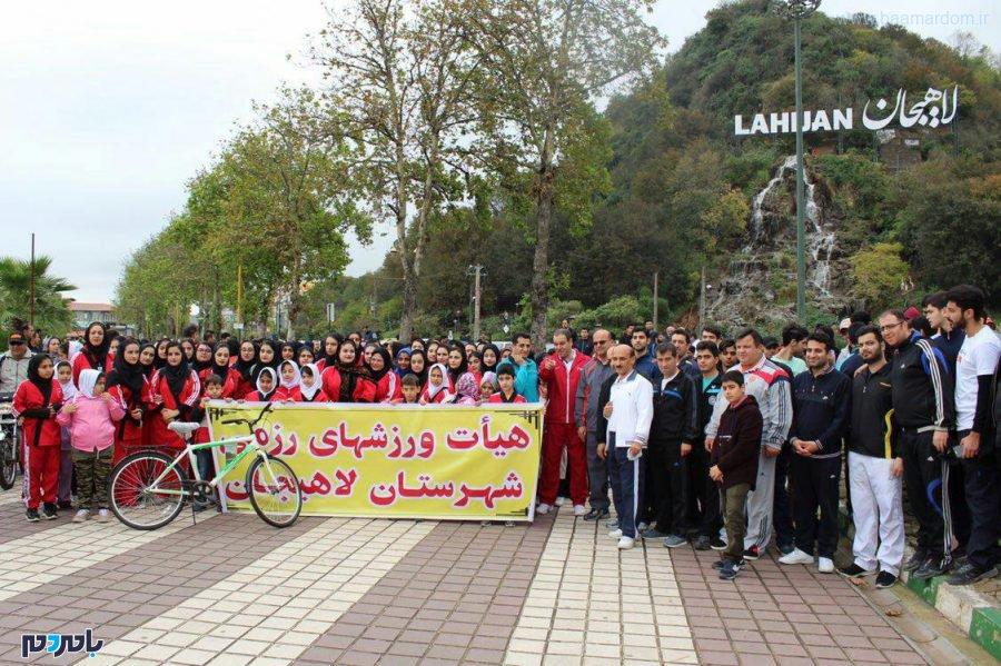 همایش پیادهروی خانوادگی در لاهیجان برگزار شد