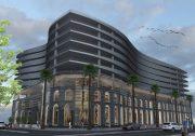 احداث پارکینگ طبقاتی ۱۰ طبقه در فاز تجارت و گردشگری منطقه آزاد انزلی