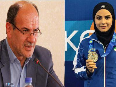 پیام تبریک فرماندار آستانه اشرفیه برای موفقیت سارا بهمنیار در مسابقات جهانی کاراته مادرید