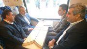 حرکت آزمایشی قطار قزوین-رشت با حضور معاون رئیس جمهوری و استاندار گیلان