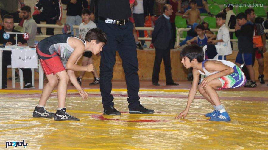 برگزاری مسابقات کشتی خردسالان و نونهالان در سیاهکل / لاهیجان پنجم شد!