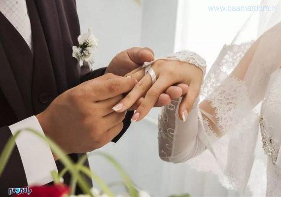 ازدواج عقد 570x400 - زوج جوان هزینههای جشن عروسی خود را صرف مبارزه با کرونا کردند