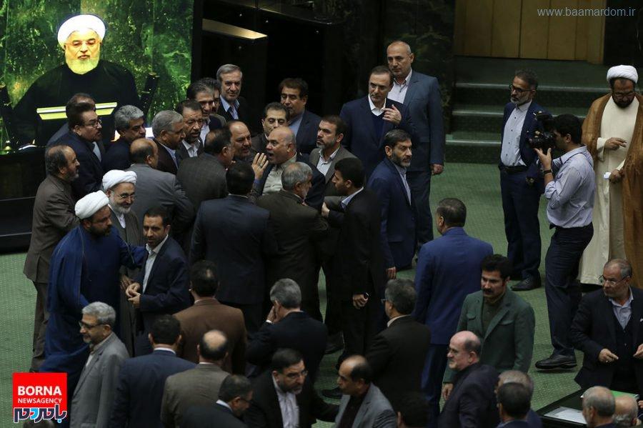 تصاویر تاسف بار از تنش امروز صحن علنی مجلس