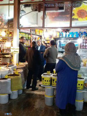 استاندار گیلان در بازار رشت 2 300x400 - حضور استاندار گیلان در بازار رشت