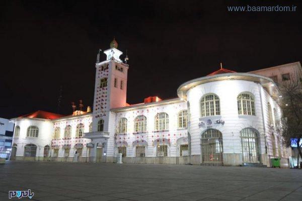 رشت 600x400 - آذین بندی ساختمان تاریخی شهرداری رشت و نصب المانهایی در ۵ نقطه شهر به مناسبت فرا رسیدن شب یلدا