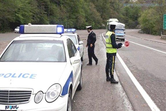 ماموران پلیسراه در جادههای گیلان - کمین ماموران پلیسراه در جادههای گیلان ممنوع شد