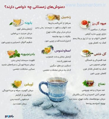 9099606 643 369x400 - ۸ دمنوش زمستانی فوق العاده مفید برای سلامتی + اینفوگرافی