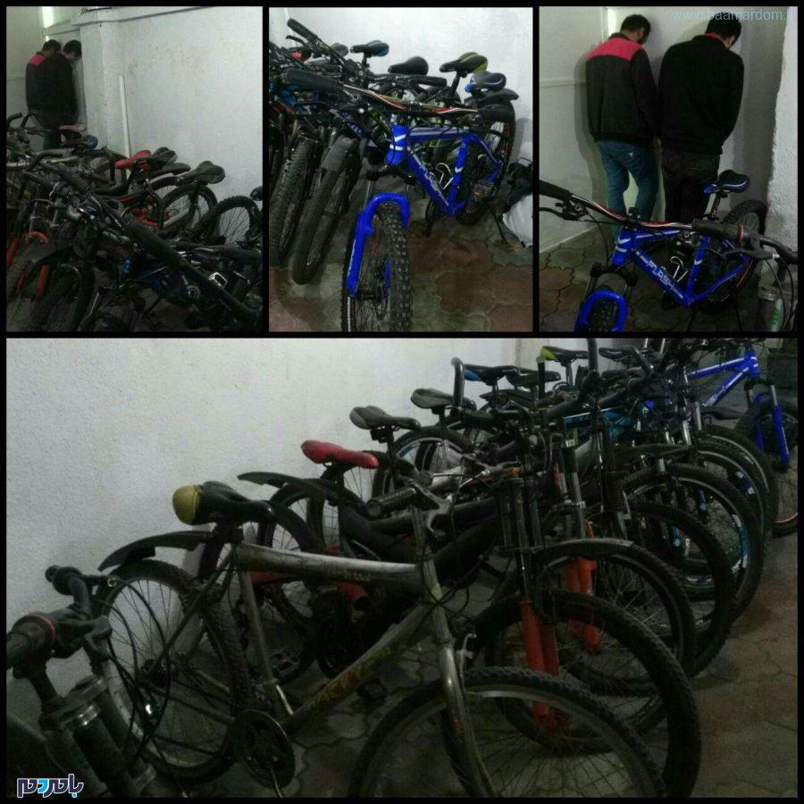 انهدام باند سارقین دوچرخه با ۲۲ فقره سرقت در لاهیجان