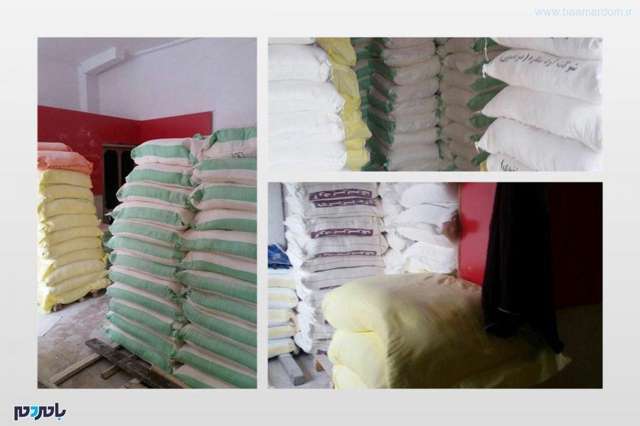 کشف بیش از ۱۹ تن آرد قاچاق در لاهیجان