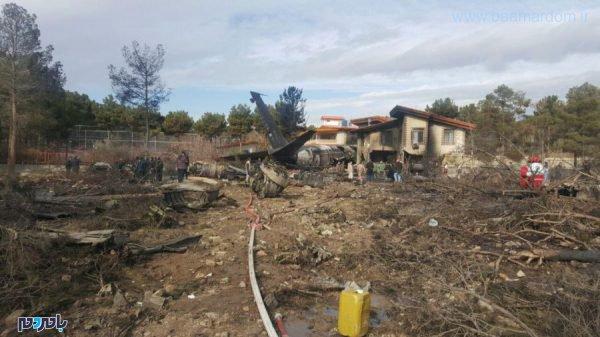 هوایپمای ارتش در نزدیک کرج 1 600x337 - سقوط هوایپمای ارتش در نزدیک کرج و برخورد با مجتمع مسکونی/ مهندس پرواز زنده است