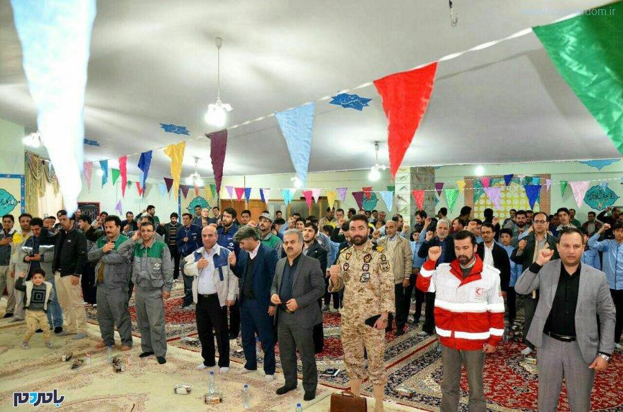 جشن چله انقلاب اسلامی در شرکت سیمان خزر برگزار شد + تصاویر