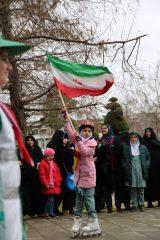 حضور پرشور خانواده سما لاهیجان و سیاهکل در جشن ۴۰ سالگی انقلاب / گزارش تصویری