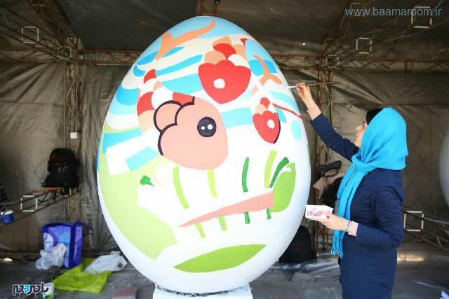 آغاز فعالیت کارگاه رنگ آمیزی تخم مرغ های رنگی نوروز در پارک قدس رشت