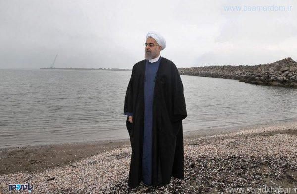 حسن روحانی 600x392 - مخالفت مجمع نمایندگان گیلان با انتقال آب دریای کاسپین به فلات مرکزی ایران