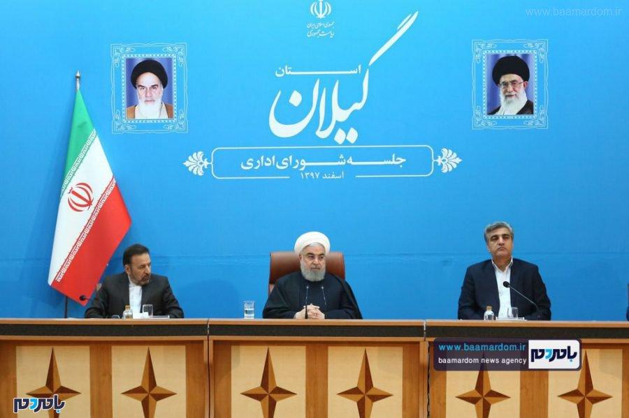 اداری استان گیلان با حضور رئیس جمهور 6 - گزارش تصویری جلسه شورای اداری گیلان با حضور ریاست جمهوری