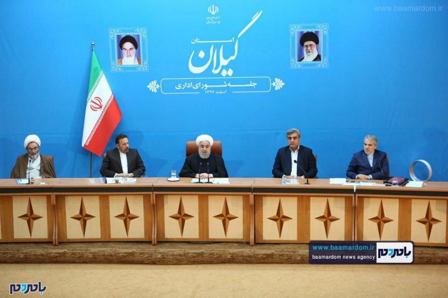 اداری استان گیلان با حضور رئیس جمهور 8 - گزارش تصویری جلسه شورای اداری گیلان با حضور ریاست جمهوری
