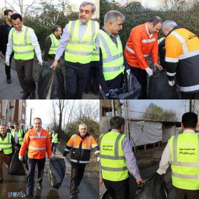 معابر شهر لاهیجان در آستانه سال نو از زباله پاکسازی شد 1 400x400 - معابر شهر لاهیجان در آستانه سال نو از زباله پاکسازی شد