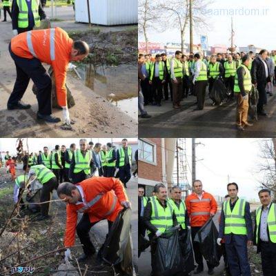 معابر شهر لاهیجان در آستانه سال نو از زباله پاکسازی شد 3 400x400 - معابر شهر لاهیجان در آستانه سال نو از زباله پاکسازی شد