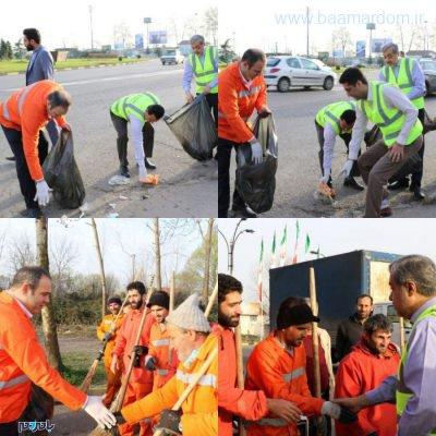 معابر شهر لاهیجان در آستانه سال نو از زباله پاکسازی شد 4 400x400 - معابر شهر لاهیجان در آستانه سال نو از زباله پاکسازی شد