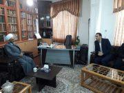 استقبال از ارائه گزارش خدمات سمای لاهیجان در مراسم نماز جمعه